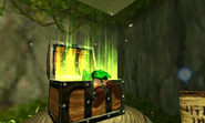Link abre un cofre OoT