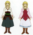 Skyward Sword Artwork Zelda - Beta Robe Designs (Early Concept Artwork)