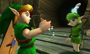 Link Saria Ocarina Hadas OoT 3D