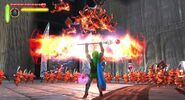 Link con el cetro de fuego