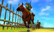 Epona y Link en la carrera contra ingo