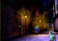 La ruelle Ouest dans la version 3D