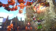 Link usando guantes de poder HW