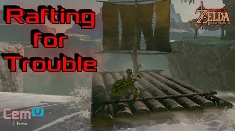 Breath of the Wild Rafting - WATERFALL STUNT EDITION - 60fps Cemu gameplay -