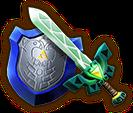 Hyrule Warriors Legends Light Sword Lokomo Sword & Mirror Shield (Level 3 Light Sword)