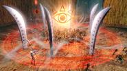 Hyrule Warriors Naginata Impa performing her Special Attack with her Guardian Naginata (Level 1 Naginata)