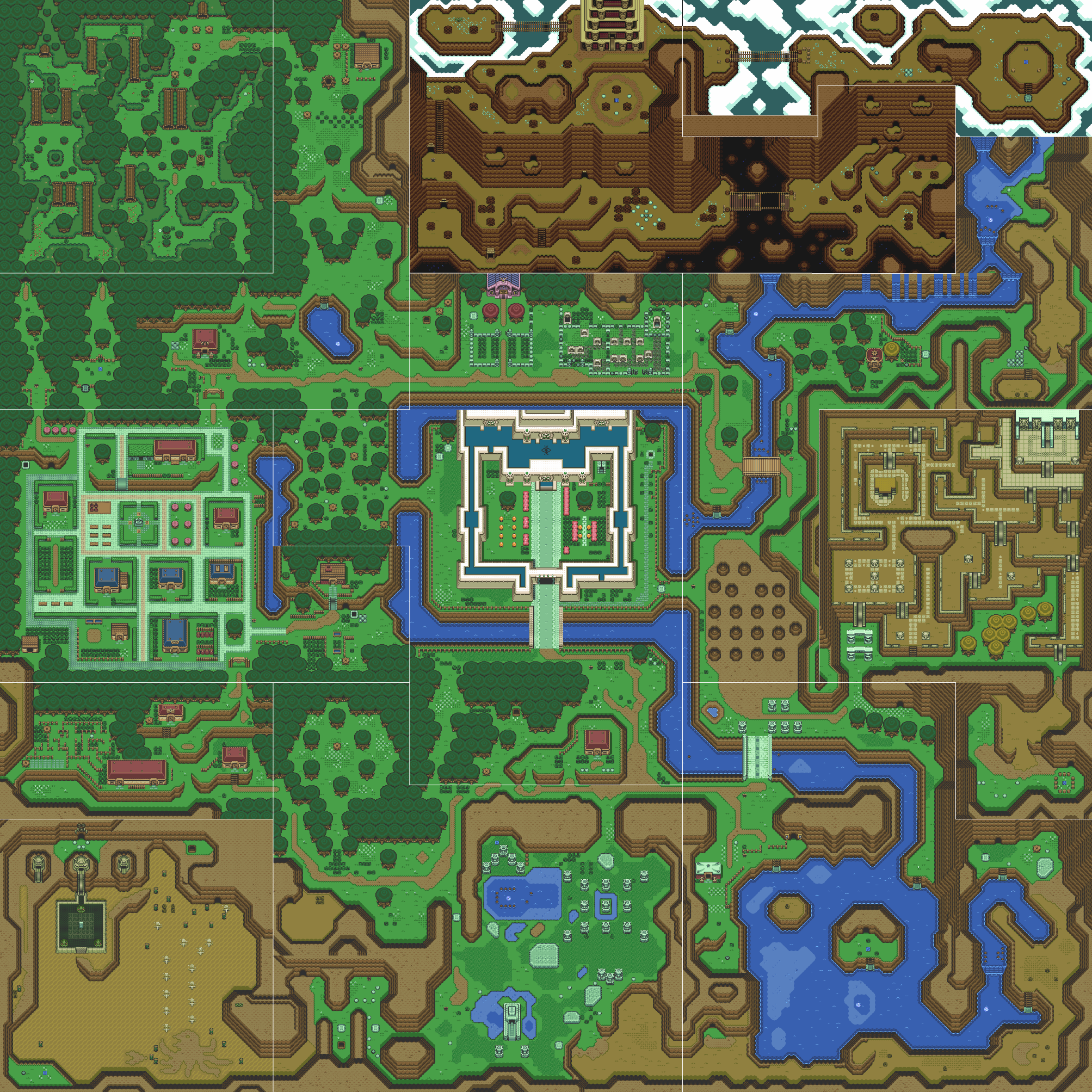 Lugares de The Legend of Zelda: A Link to the Past