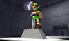 Link enfant qui retire l'épée de légénde de son socle dans Ocarina of Time 3D
