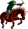 Link arc et Epona