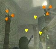 Link marcando destinos con el Bumerán Tornado en TP