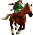 Link y Epona en Ocarina Of Time