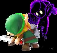 LANS Link Fighting Shadow Link Render