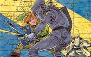 Link vs. Dark Link (The Adventure of Link)