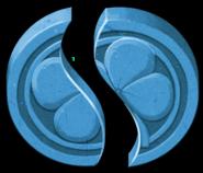 Artwork piezas Piedra Suerte azul