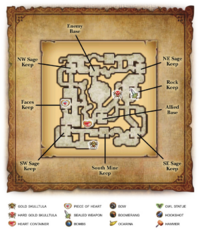 Map of the Wind and Earth Temples from Wind Waker: Watchers of the Triforce