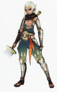 Hyrule Warriors Artwork Impa (Concept Art)