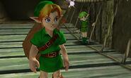 Link y Saria en OoT 3D
