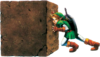 Link pousse OoT