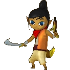Hyrule Warriors Legends Tetra Standard Outfit (Koholint - Martha Recolor)