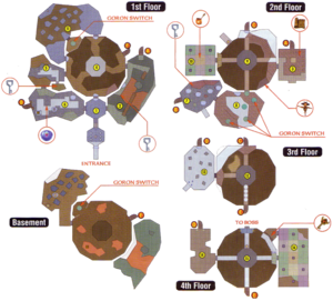 A map of Snowhead Temple