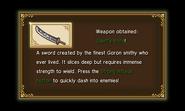 Hyrule Warriors Legends Giant Blade Giant's Knife (Level 1 Giant Blade)