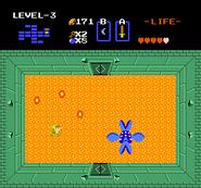 Link luchando contra Manhandla TLoZ