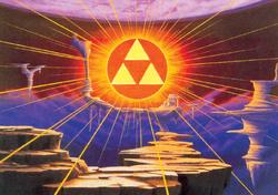 A Triforce no Reino Sagrado em A Link to the Past
