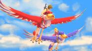 Link and Zelda flying