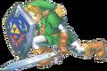Link Defending (Ocarina of Time)