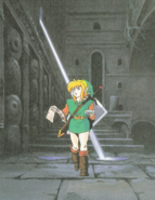Link in a Dungeon (Link's Awakening)