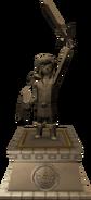 The Wind Waker Hyrule Castle Hero of Time Statue (Render)