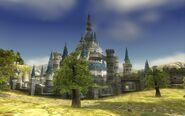 Castillo de Hyrule desde la pradera TP
