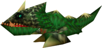 A Dodongo from Ocarina of Time and Majora's Mask