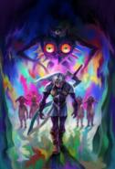 Majora's Mask 3D Artwork Fierce Deity, Majora's Incarnation, & Lunar Children (Offical Artwork)