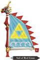 Hyrule Warriors Legends Sail Sail of Red Lion (Render)
