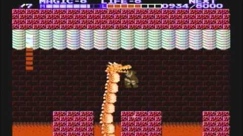 Zelda the adventure of link - Boss 6 Barba