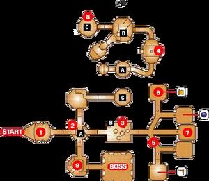 Map of the Inside Jabu-Jabu's Belly