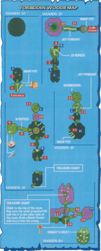 Map of the Forbidden Woods