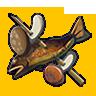 Fish and Mushroom Skewer