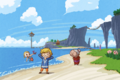 The Wind Waker Artwork Link & his Family on Outset Island (Offical Artwork)