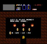 Link tras jugar al Juego de Ganar Dinero