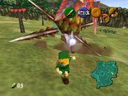 Peahat atacando a Link