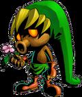 Link convertido en Deku