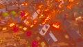 Ciudadela de Hyrule en llamas BotW