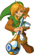 Artwork of Link with the Rod of Seasons