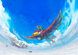 Link em seu Skyloft.