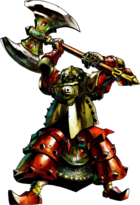 Artwork of Nabooru clothed in Iron Knuckle armor
