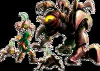 Artwork de la batalla de Link vs. Queen Gohma.png