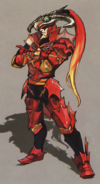Hyrule Warriors Artwork Dragon Knight Volga (Concept Art)