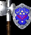 Megaton Hammer and Hylian Shield (Soul Calibur II).png